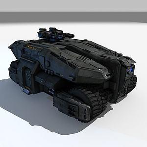 3D游戏战车模型