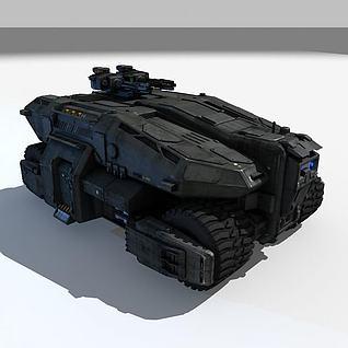 3D游戏战车3d模型