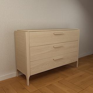 原木储物柜3d模型
