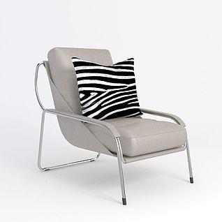 休闲椅3d模型