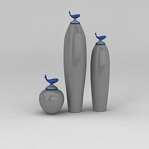 3d錦鯉<font class='myIsRed'>花瓶</font>模型