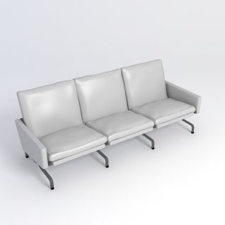 休息排椅3d模型