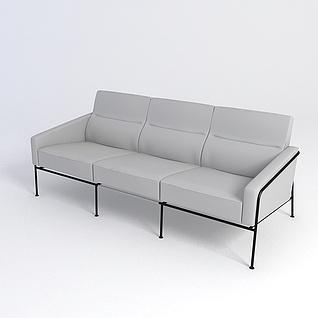简约长椅3d模型