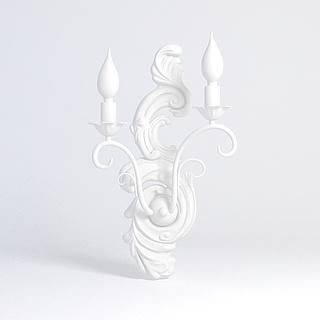 欧式装饰壁灯雕塑3d模型