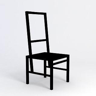 木椅3d模型