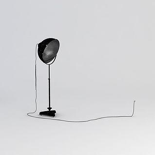 工业风落地灯3d模型