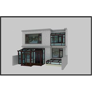 阳光房窗户3d模型