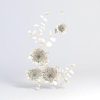 雕花墙饰3d模型