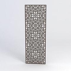 中式雕花隔断模型3d模型