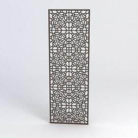 中式雕花隔断3d模型