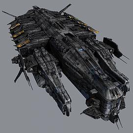 战斗飞船3d模型