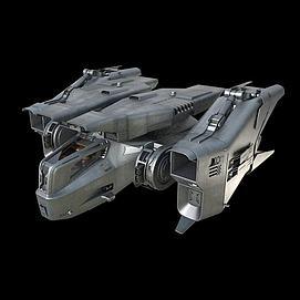 3D飞船战机3d模型