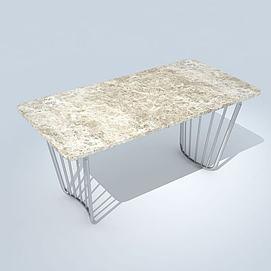 简易中式现代桌模型