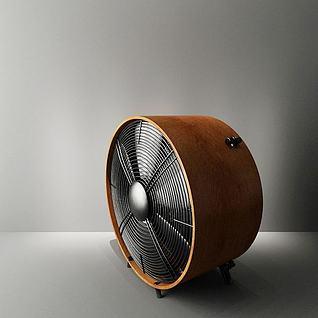 复古电风扇3d模型