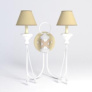 简约壁灯3d模型