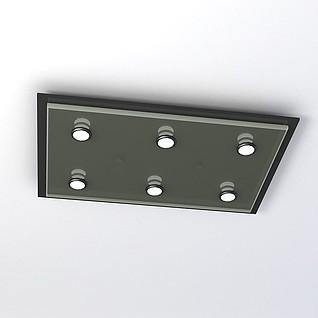 办公室吸顶灯3d模型