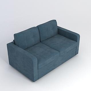 双人沙发3d模型