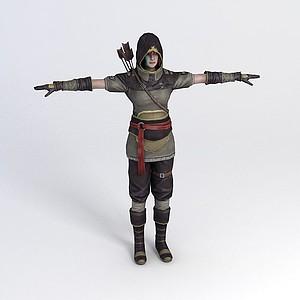 游戲人物模型3d模型