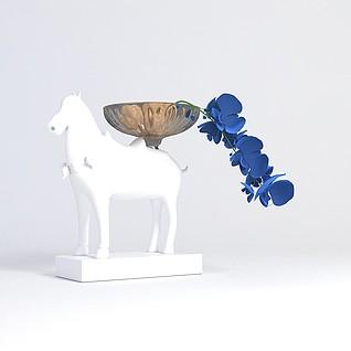 马摆件陈设品3d模型