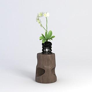 花瓶陈设品3d模型