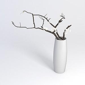花瓶陈设品模型