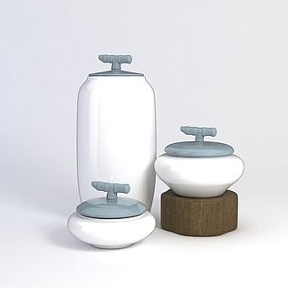 中式花瓶3d模型