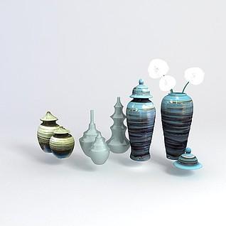 花瓶装饰品3d模型