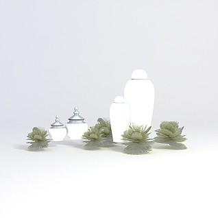 花瓶饰品3d模型