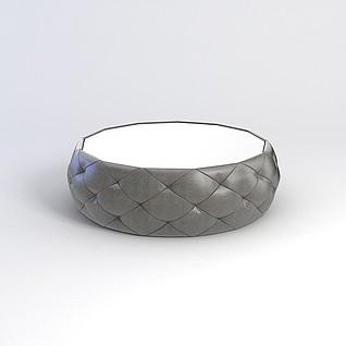 沙发凳3d模型