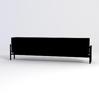 长椅3d模型