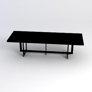 长方形桌子3d模型