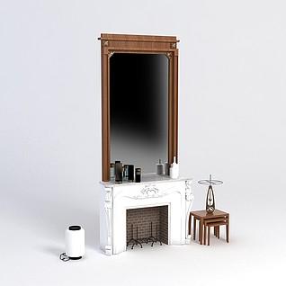 壁炉台3d模型