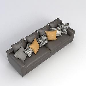 客廳多人沙發模型3d模型
