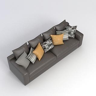 客厅多人沙发3d模型