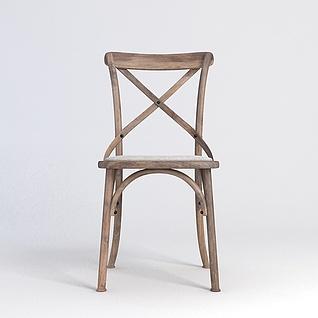工业风椅子3d模型