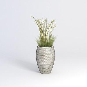 綠植花瓶模型3d模型