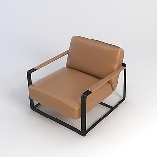休闲沙发椅3d模型