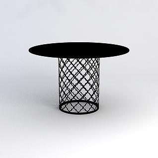 休闲圆桌3d模型