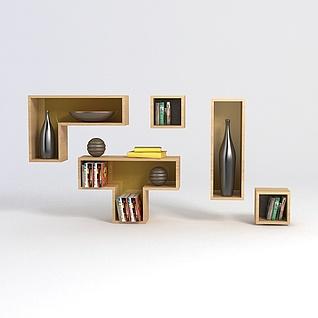 墙壁置物架3d模型3d模型