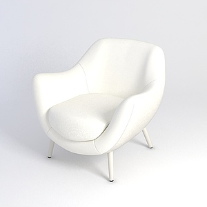白色沙发椅模型