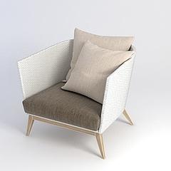 休闲沙发椅模型3d模型