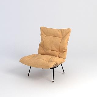 黄色椅子3d模型