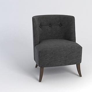 软包沙发椅3d模型