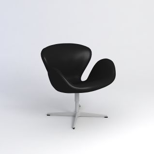 黑色舒适办公椅3d模型