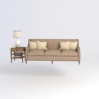 沙发台灯组合3d模型