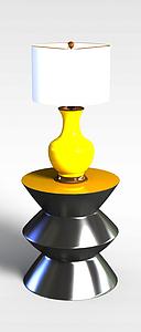 边几台灯组合模型3d模型