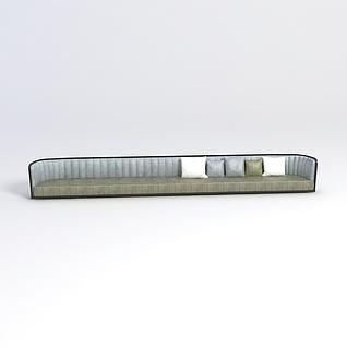 中式长沙发3d模型