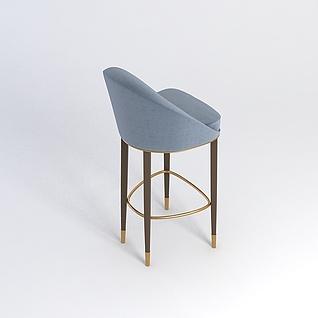 高脚椅3d模型