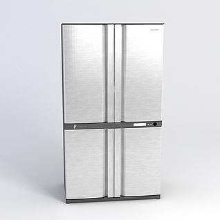 四门冰箱3d模型