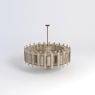别墅客厅吊灯3d模型3d模型